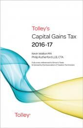 Tolley's Capital Gains Tax 2016-17 Budget Edition & Main Annual cover