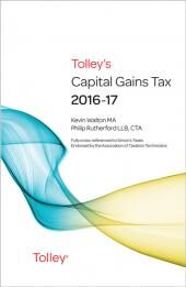 Tolley's Capital Gains Tax 2016-17 Main Annual eBook cover