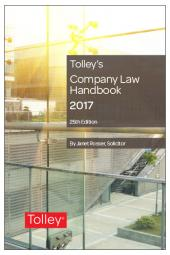 Tolley's Company Law Handbook 25th edition cover