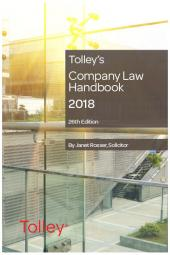 Tolley's Company Law Handbook 26th edition cover