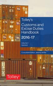 Tolley's Customs and Excise Duties Handbook 2016-2017 cover