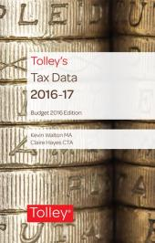 Tolley's Tax Data 2016-17 (Budget edition) cover