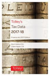 Tolley's Tax Data 2017-18 (Finance Act edition) cover