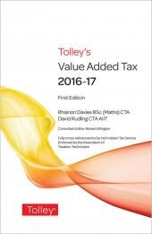 Tolley's Value Added Tax 2016 cover