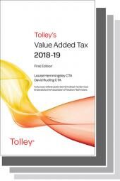 Tolley's Value Added Tax 2018 Set cover