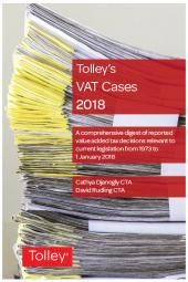 Tolley's VAT Cases 2018 cover