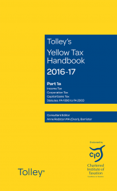 Tolley's Yellow Tax Handbook 2016-17 cover