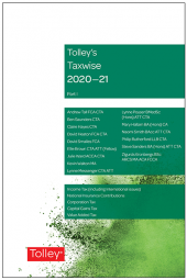 Tolley's Taxwise I 2020-21 cover