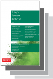 Tolley's Taxwise I & II 2020-21 Set cover