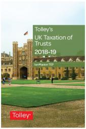 Tolley's UK Taxation of Trusts 2018-2019 cover