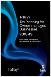 Tolley's Tax Planning for Owner-Managed Businesses 2018-19 (Part of the Tolley's Tax Planning Series) cover