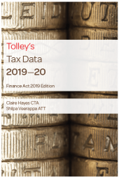 Tolley's Tax Data 2019-20 (Finance Act edition) cover