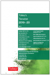 Tolley's Taxwise I 2019-20 cover