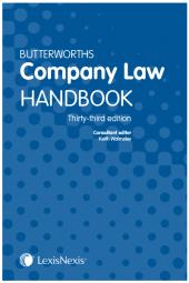 Butterworths Company Law Handbook 33rd edition cover