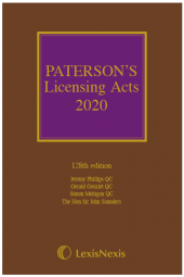 Paterson's Licensing Acts 2020 including CD-ROM cover
