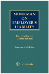 Munkman on Employer's Liability 17th edition cover