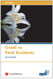 APIL Guide to Fatal Accidents Fourth edition cover