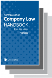 Butterworths Company Law Handbook 33rd edition and Company Secretary's Handbook 29th edition & Tolley's Company Law Handbook 27th edition cover