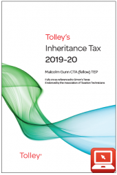 TolleyLibrary Light Tolley's Inheritance Tax 2019 and Print cover