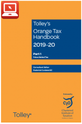 TolleyLibrary Light Orange Tax Handbook 2019 and Print cover