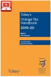 TolleyLibrary Light Orange Tax Handbook 2019 and Print cover