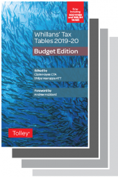 Whillans Tax Tables 2019-20 Set (Budget edition & Finance Act edition) cover