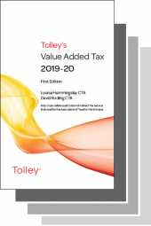 Tolley's Value Added Tax 2019 Set cover