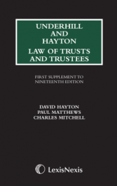 Underhill and Hayton Law of Trustees, First Supplement to the 19th Edition cover