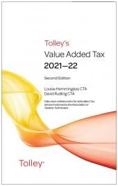 Tolley's Value Added Tax 2021-2022 (Second edition only) cover