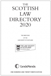 The Scottish Law Directory: The White Book 2020 129th edition cover