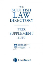 The Scottish Law Directory: The White Book: Fees Supplement 2020 cover