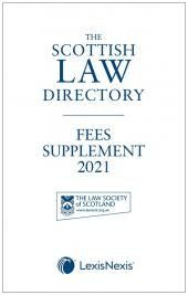 The Scottish Law Directory: The White Book: Fees Supplement 2021 cover