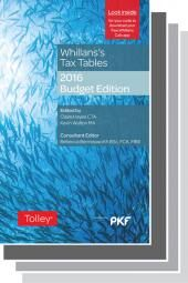 Whillans's Tax Tables 2016-17 Set (Budget edition & Finance Act edition) cover