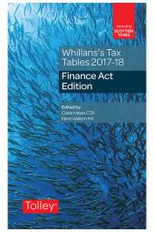 Whillans's Tax Tables 2017-18 (Finance Act edition) cover