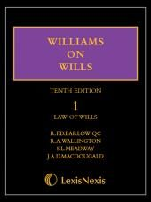 Williams on Wills - First Supplement to the Tenth edition (Print and eBook) cover