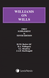 Williams on Wills - First Supplement to the Tenth edition cover