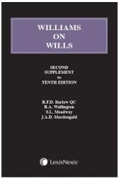 Williams on Wills - Second Supplement to the Tenth edition cover