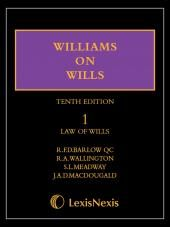 Williams on Wills 10th Edition Mainwork and Supplement Set cover
