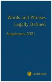 Words and Phrases Legally Defined 2021 Supplement cover