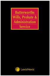 Butterworths Wills, Probate and Administration Service cover