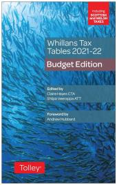 Whillans Tax Tables 2021-22 (Budget edition) cover