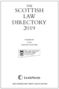 The Scottish Law Directory: The White Book 2019 128th edition