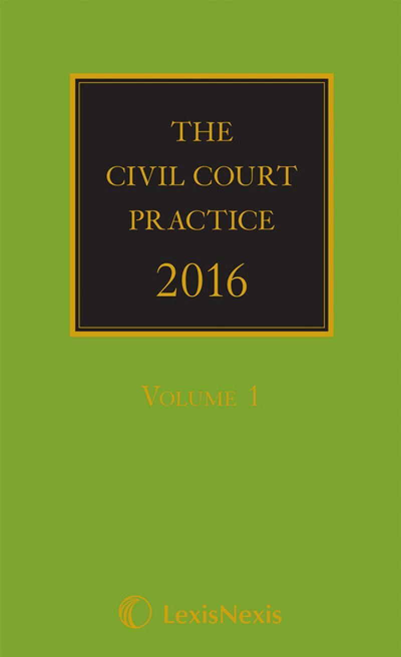 The civil court practice 2017 the green bookhardcopy cd the civil court practice 2016 the green bookhardcopy cd lexisnote fandeluxe Document